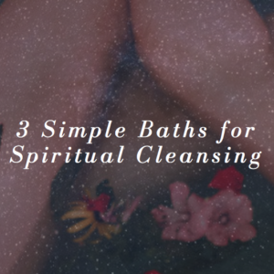 baths for spiritual cleansing and aura cleansing with salt vinegar and baking soda